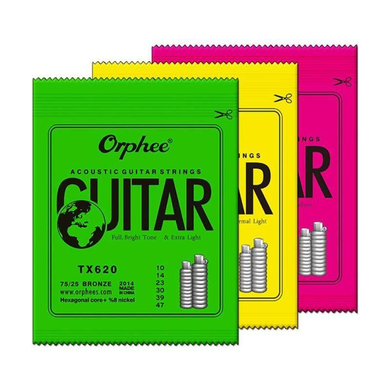 Orphee Acoustic Wood Folk Guitar Strings 6pcs Hexagonal Carbon Steel Guitarra String TX620/TX630/TX640 Guitar Part Accessories Malaysia