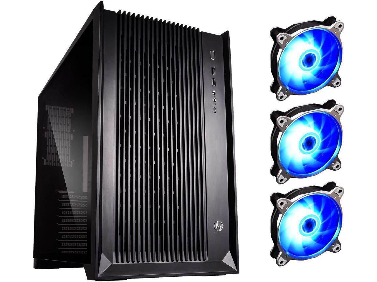 # LIAN LI PC-O11 AIR RGB Black SECC / Tempered Glass ATX Mid Tower Gaming Computer Case --Included 3 X RGB FANS , 2 X PWM FANS # Malaysia