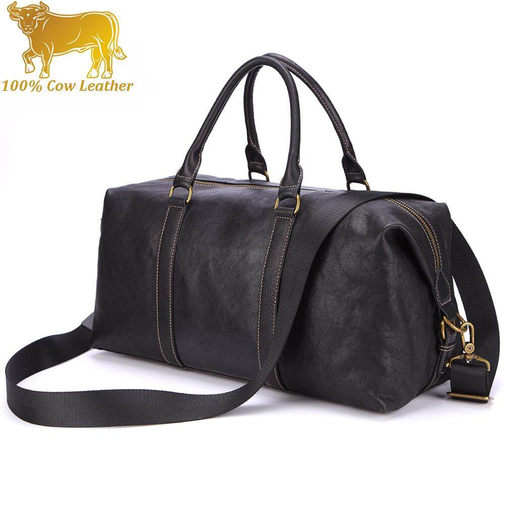 21be1c0014 Italy Import Genuine Cow Leather Duffel Men Travel Bag Large Capacity Big  Shoulder Bag Business