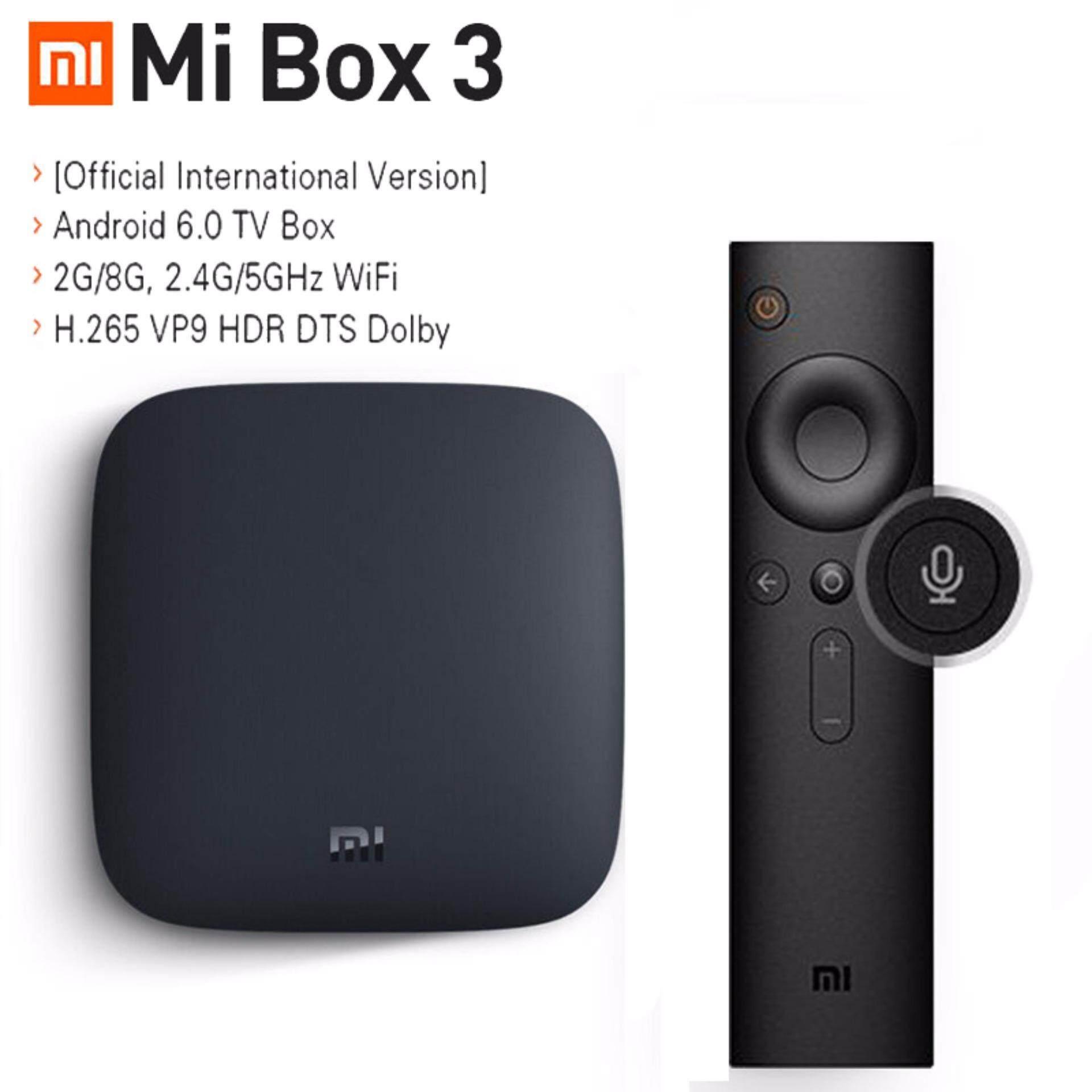 Xiaomi Mi tv box 3 Wifi Bluetooth 64bit 2GB DDR3 Android 6 0 Smart 4K HD  TvBox