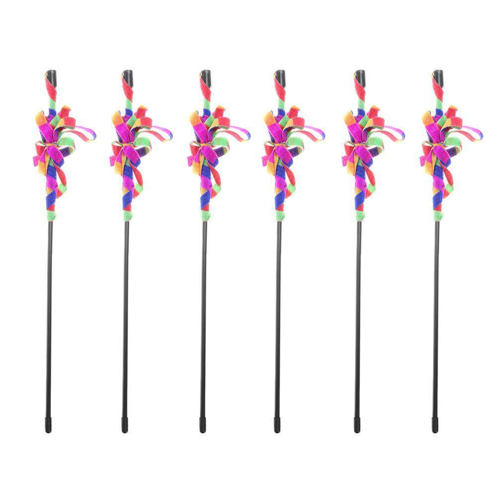 Cute Colorful Rod Cat Teaser Wand Interactive Stick Pet Cats Kitten Toys(black)- By Companionship.