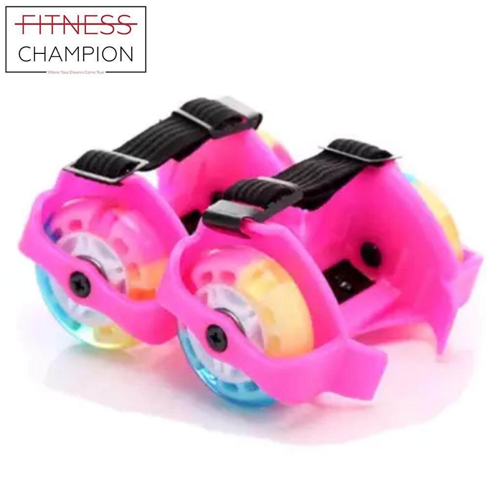 FITCHAMP  Kids Lightweight Flashing Colors Roller Skates Rainbow Skate 4d45f3bb8e