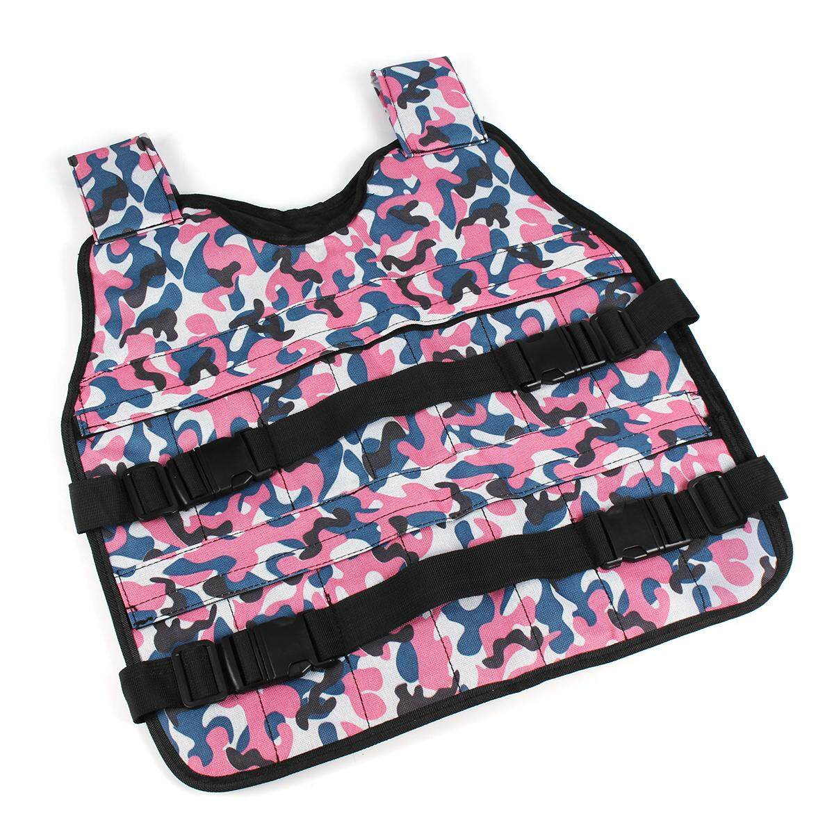 Adjustable Camouflage Weighted Weight Vest Training Fitness - NEW