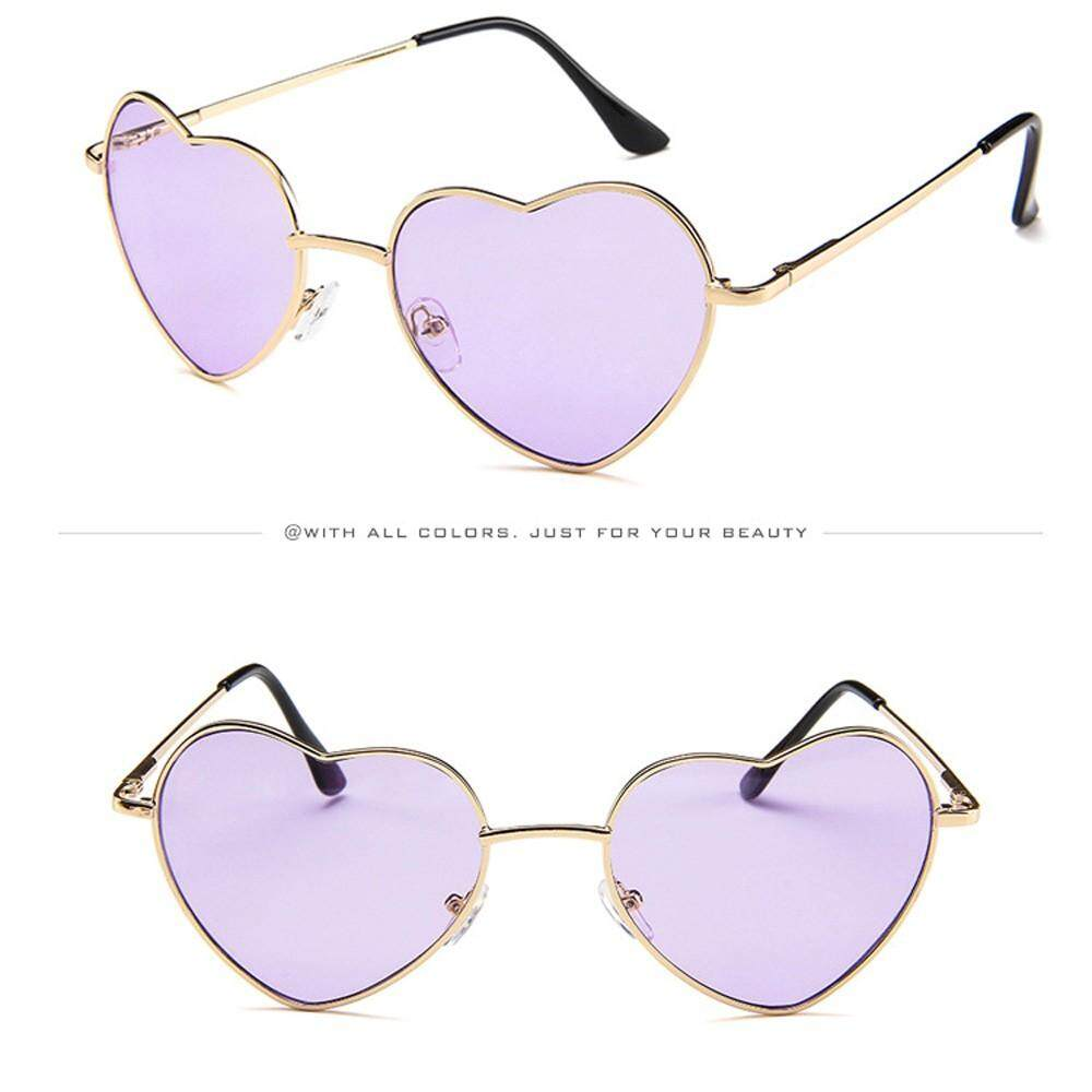 a2ff18ae99a4 Docesty Mens Womens Metal Frame Ladies Heart Shape Sunglasses Lolita Love  Free Shipping