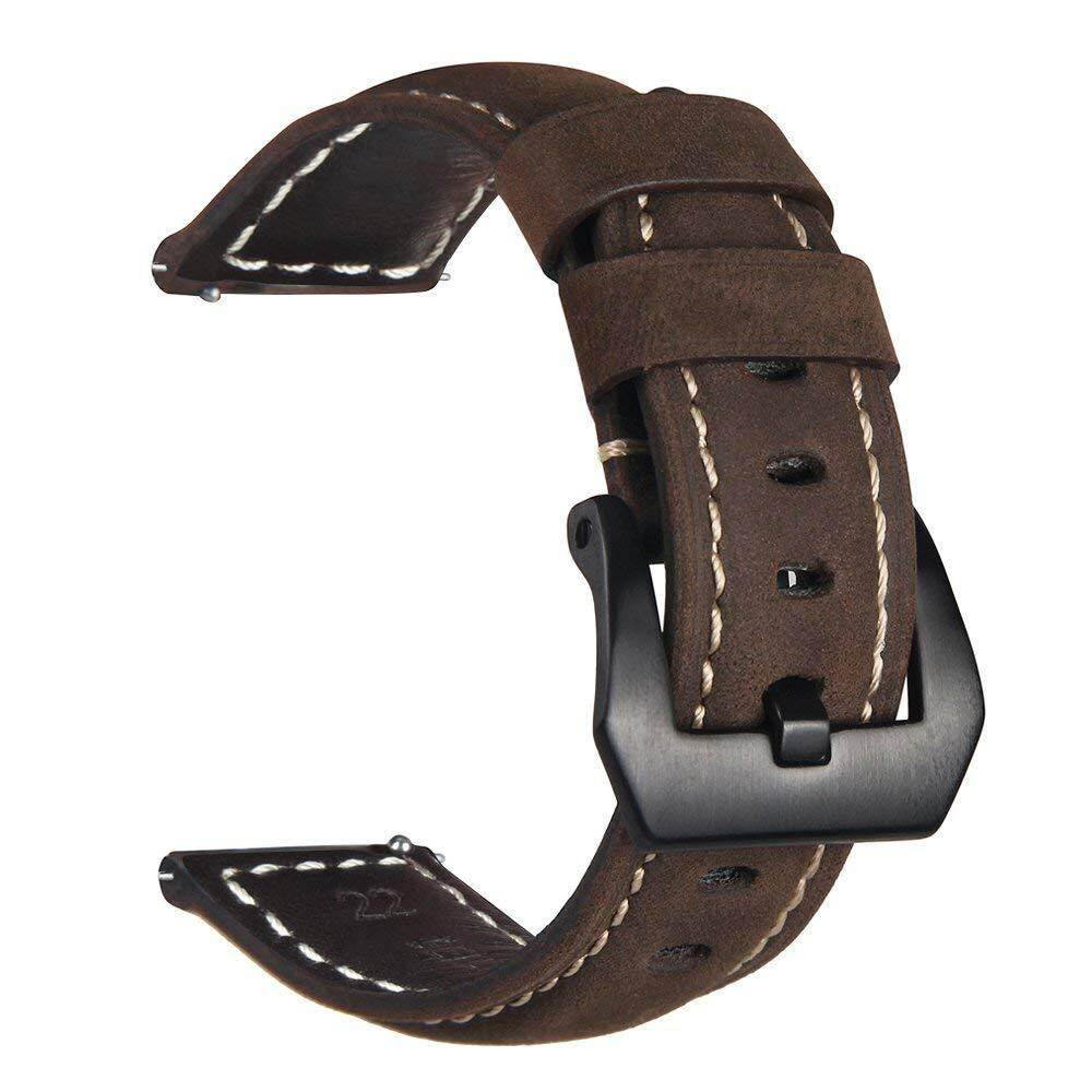 Gear S3 Frontier/Classic Watch Band, 22mm Premium Crazy Horse Genuine Leather Strap Replacement