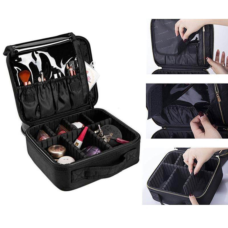 20e7962cd4a6 DS-Mart Cosmetic Bag,Professional Lazy Cosmetic Bag for Travelling and  Home,Nylon Marble Makeup Case with Adjustable Dividers and  Partition,Must-have ...