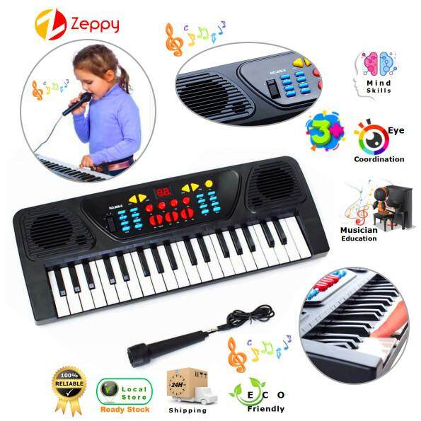 37 Key Electronic Keyboard Kids Early Learning Piano Musical Toy Mini Mic Record By Zeppy Malaysia.