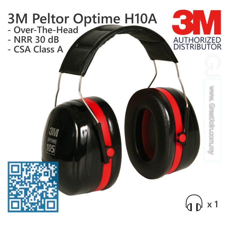 3M H10A Peltor Optime 105 Series Over-The-Head Safety Ear Muff/ Earmuff/ Hearing Protection Noise Reduction Rating (NRR) 30 dB/CSA Class A [1 Unit]
