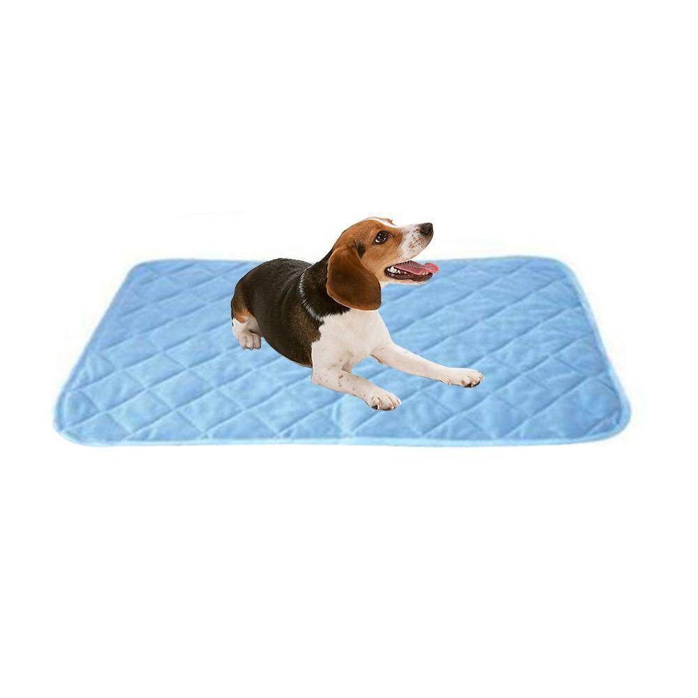 Leegoal Pet Cooling Bed Gel Mat Dog Cat Non-Toxic Cool Water Pad Puppy Cold Summer 90x60x1cm, L By Leegoal.