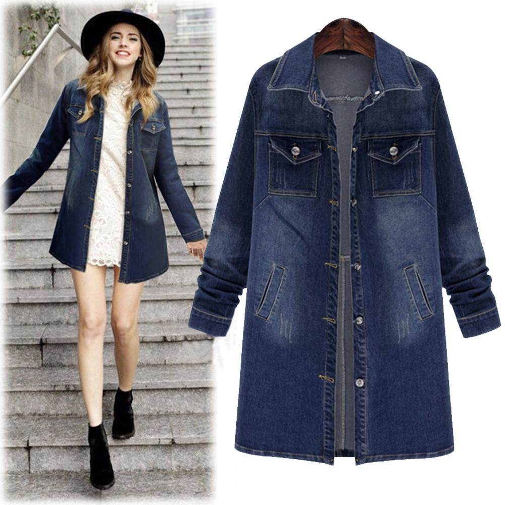 Buy Jackets Coats At Best Prices Online In Malaysia Tendencies Kaos Japanese City Hitam L Erpstore Fashion Women Plus Size Long Sleeve Tops Denim Outcoat Pockets Jean Outwear
