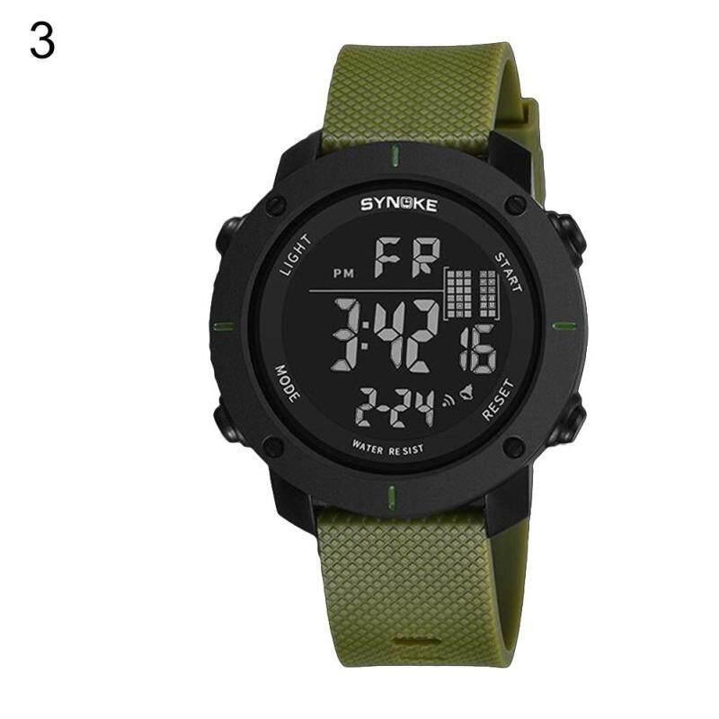 BODHI Fashion Mens Luminous Outdoor Sports Digital Wrist Watch Clock 50M Waterproof (Army Green) Malaysia