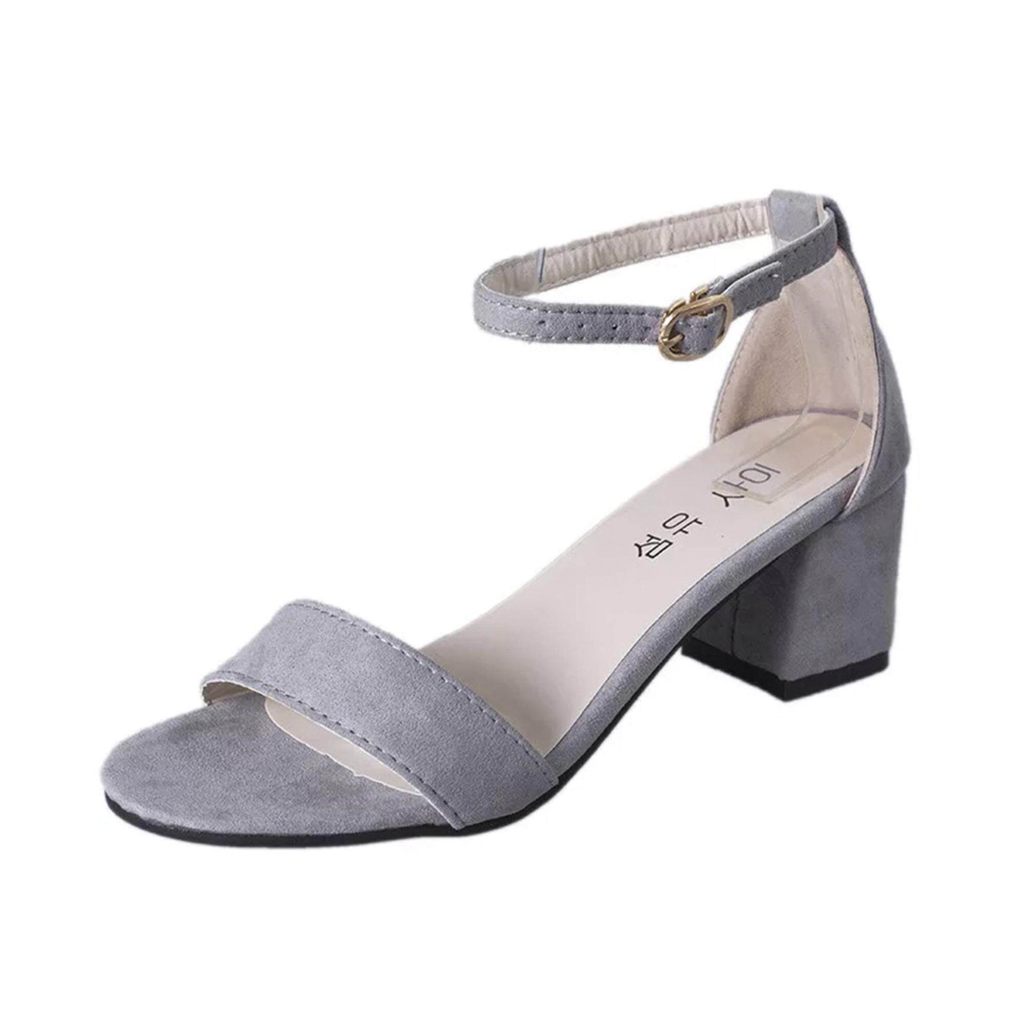 Ladies Shoes For The Best Price In Malaysia Baby Heels Sepatu Anak Red Rose Plain Heus Ol Elegant Thick Heel