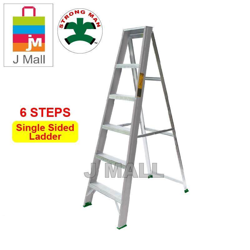 STRONGMAN Aluminium Single Sided Ladder 6 Steps 60  [ Max Reachable Height 286cm ]