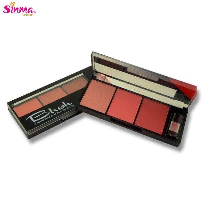 Sinma Meis Blush Palette 3 Colors With Brush Beauty Make Up Cosmetics By Sinma Fashions.