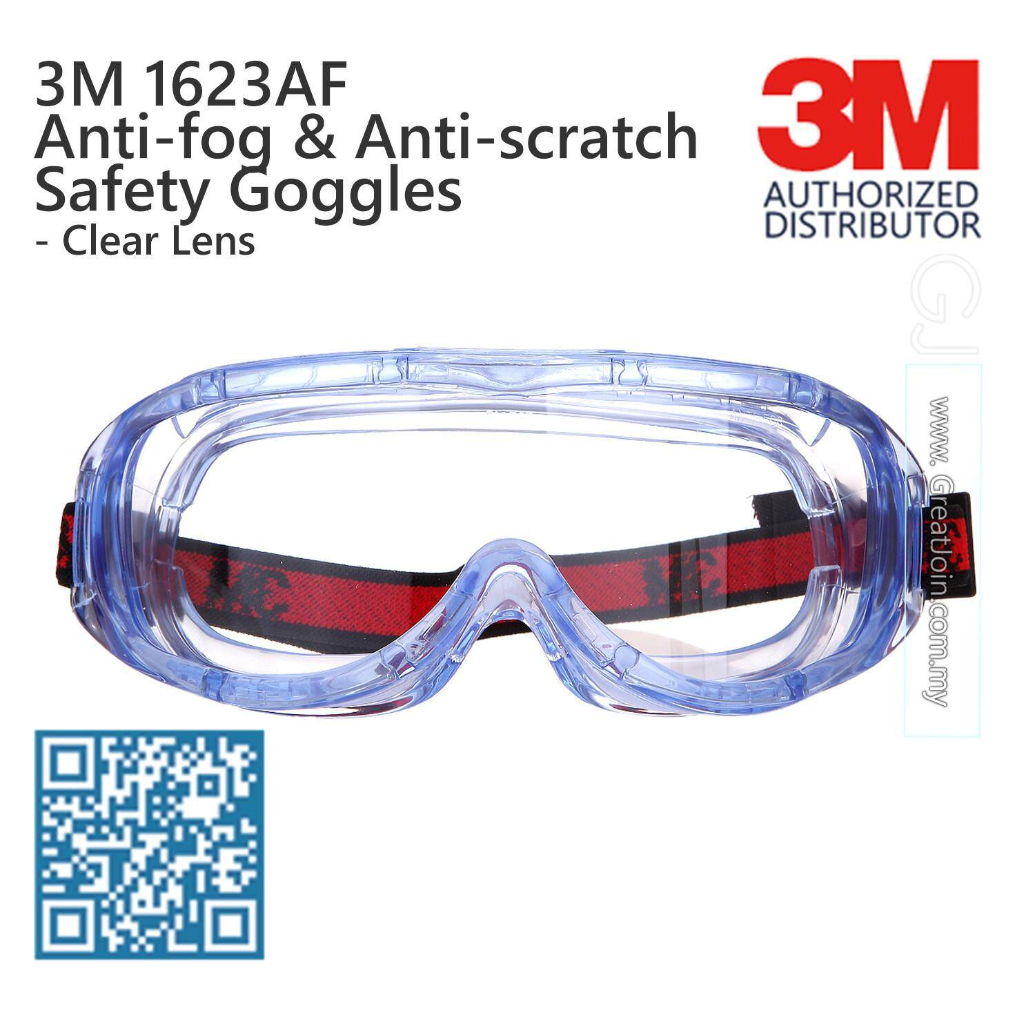 536abf9b4a 3M 1623AF Safety Goggles Anti Fog Anti Scratch UV Resistance  Clear   Transparent Lens