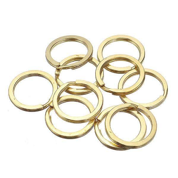 10Pcs green brass key ring copper button key ring handmade leather goods DIY