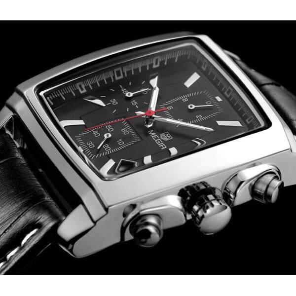 New luxury brand megir fashion leisure military quartz watch mens high quality waterproof simulation leather watch men free shipping 2028 Malaysia