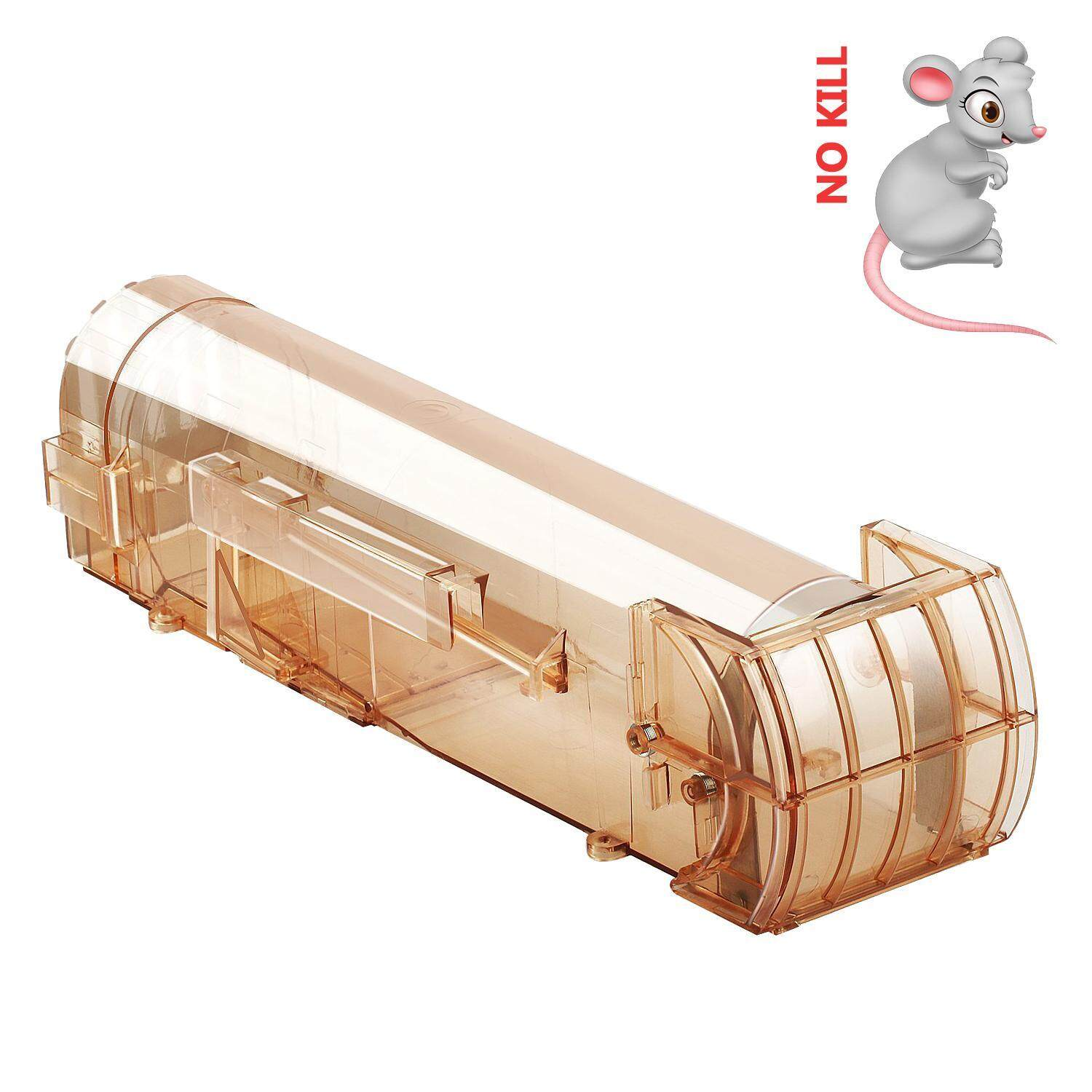 Eenten Humane Mouse Trap, Rodent Trap, No Kill Live Mice Catch Cage, 1 Pack (Brown)