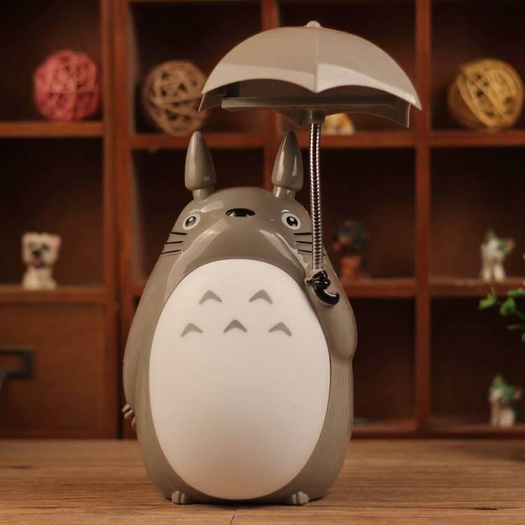 Cute Totoro With Umbrella Night Lamp