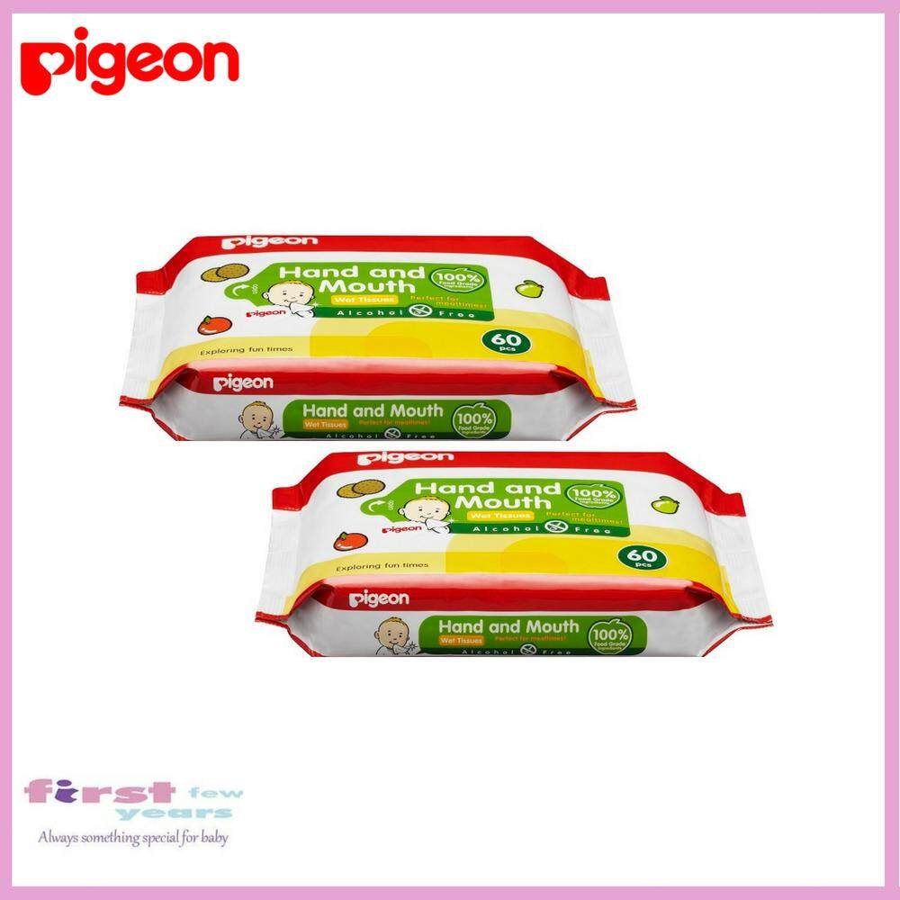 Pigeon Wet Tissues – Hand And Mouth (2 X 60wipes) By First Few Years.