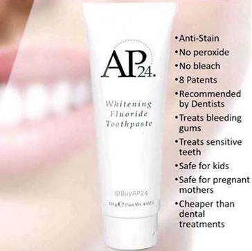 Ap24 Whitening Fluoride Toothpaste By Pvo Beauty.