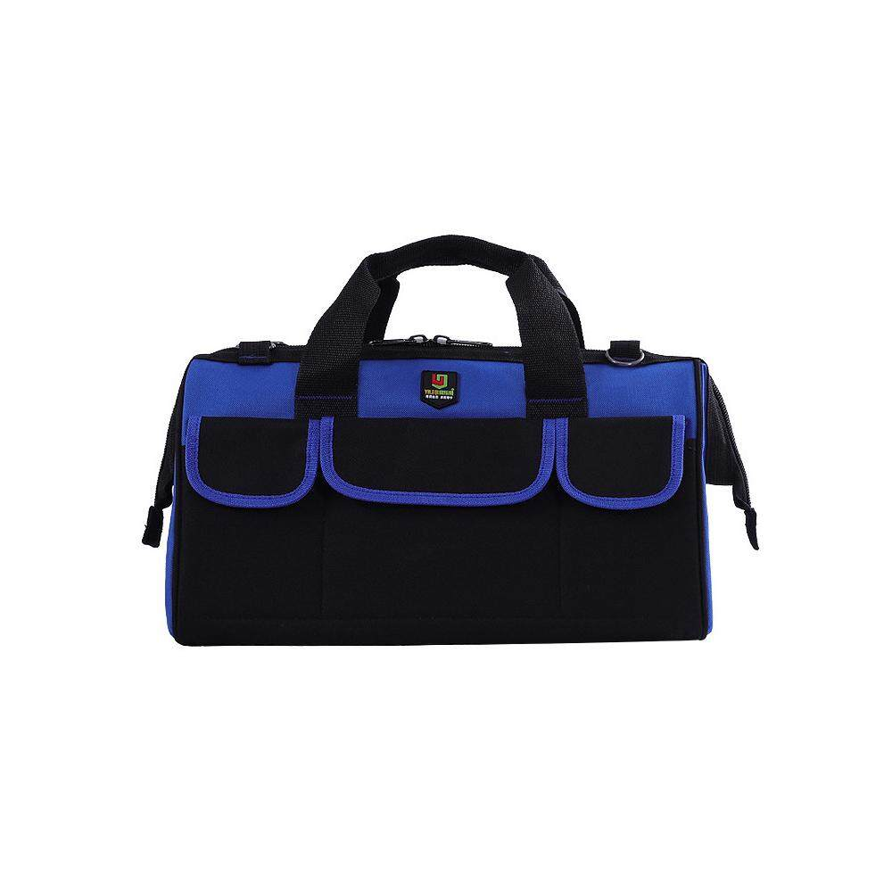 YILEQI Multifunctional Large Capacity Oxford Cloth Toolkit for Plumber and Electrician One-shouldered Portable Dual-use Bag 17inch