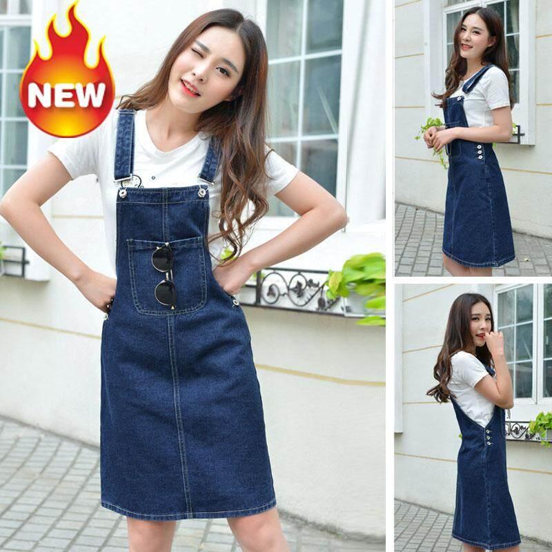 45bcca7e26c7 JE FE Explosion models ladies denim skirt skirt slim strap skirt dress  Dresses