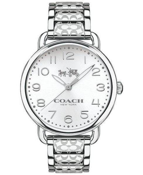 Coach Womens Delancey Silver Printed Bracelet Watch 14502495 Malaysia