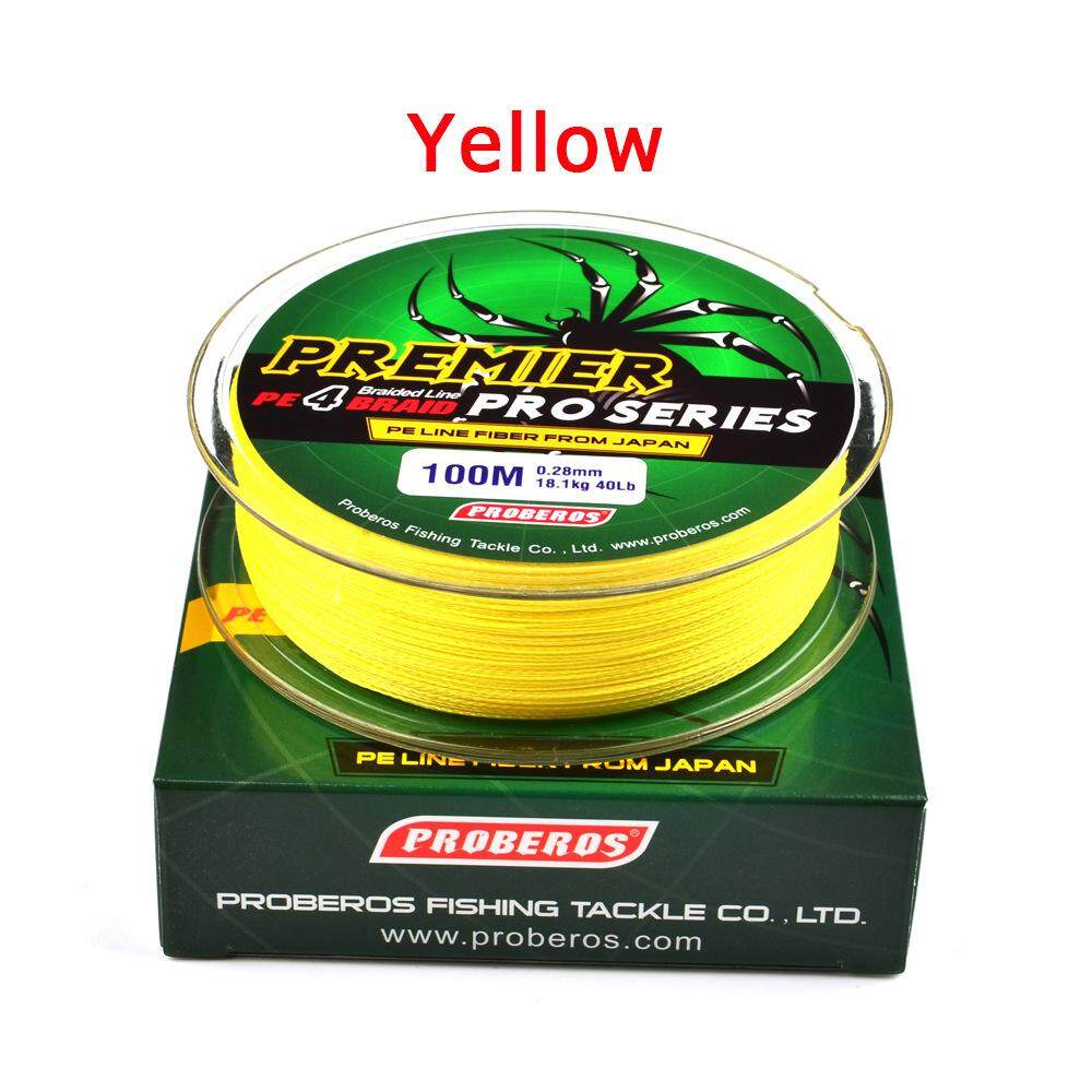 Hiqueen 100m Super Strong Braided Wire Fishing Line Pe Material Multifilament Carp Fishing Rope Line Number:4.0/40lb Color:yellow By Hiquuen.