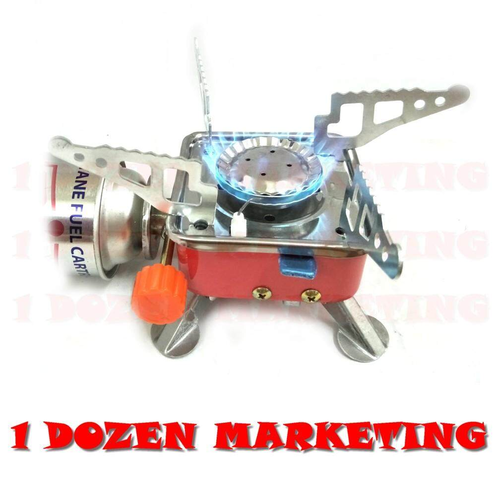 Portable Mini Folding Metal Camping Gas Stove By 1 Dozen Marketing.