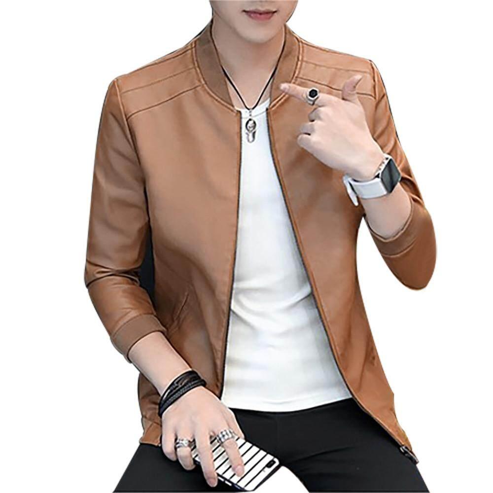 e55a0977c5a FashionDoor Men Fashion Handsome Autumn Winter Slim Collar Casual Jackets  Tops