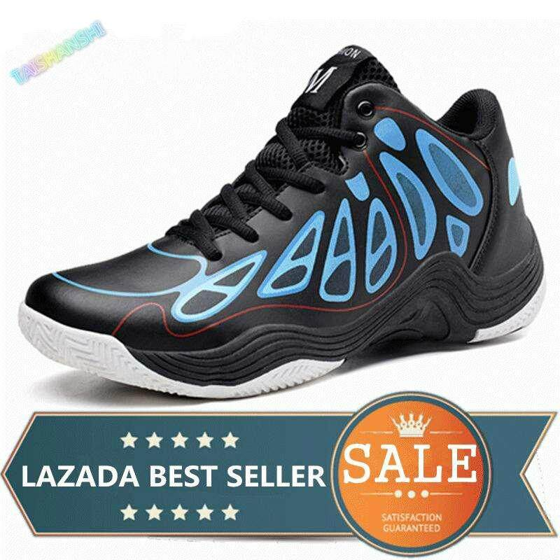 Men s Fashion Basketball Shoes Sport Shoes Outdoor Casual High Top Sneakers  (Blue) ea89b2084