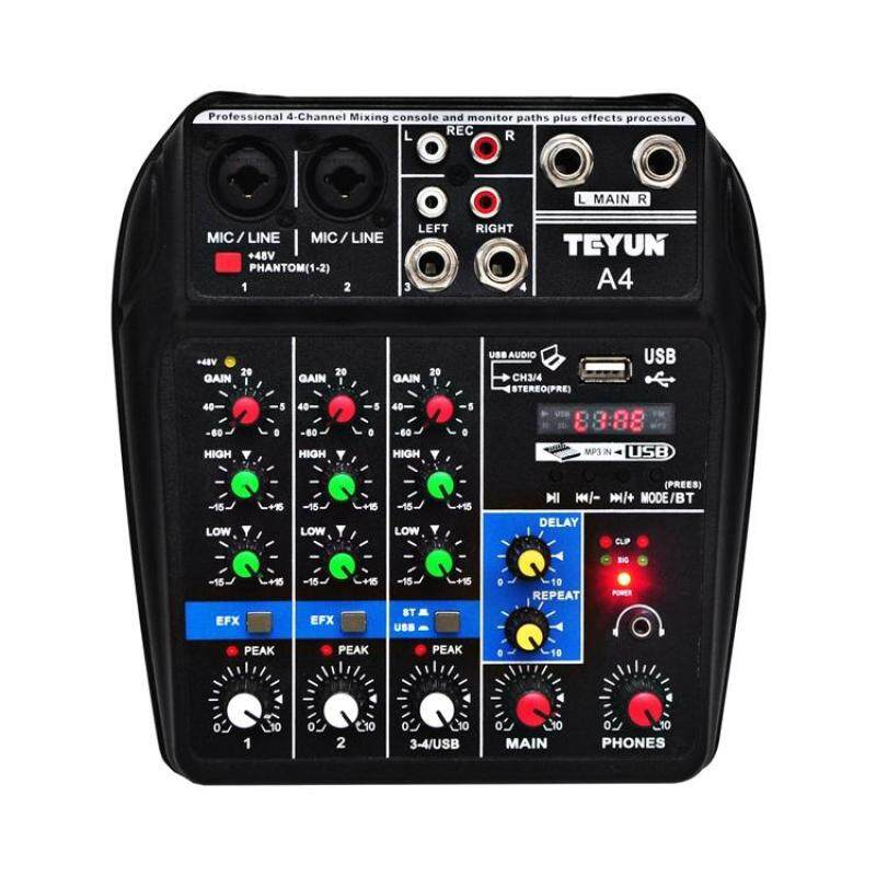 Wonderful Toy Sound Mixing Console with Bluetooth Record 4 Channels Audio Mixer for Stage Performance Family K Songs Malaysia