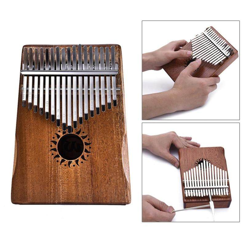 17 Key Kalimba Thumb Piano Kids Adults Solid Mahogany Body Music Finger Percussion Keyboard(Sun Flower) Malaysia