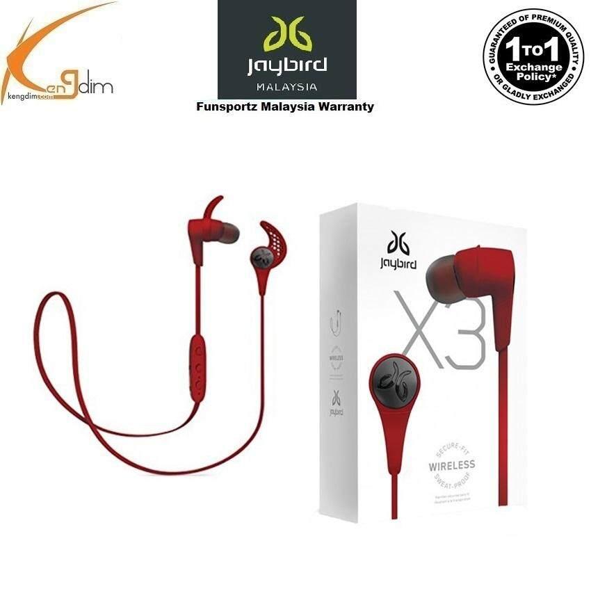 4a039f14b08 JayBird X3 Sport Bluetooth Headset - RoadRash Red