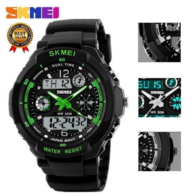 [BDAY SALE] SKMEI Children Sports Watches Fashion LED Quartz Digital Watch Boys Girls Kids 50M Waterproof Wristwatches Malaysia