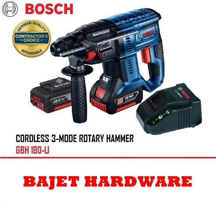Bosch GBH 180-LI 18v 4.0Ah Professional Cordless Rotary Hammer With SDS-Plus