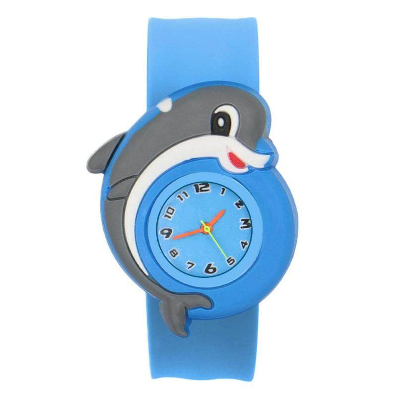 2018 Brand New Fashion Popular Great Gift for Friend/Family-Cute Adorable Cartoons Children Slap Snap On Silicone Quartz Wrist Watch New ! Malaysia