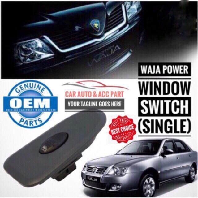 Proton Waja Oem Power Window Switch Single Passengers Side By Kaki Kereta Auto Supply Sdn Bhd.