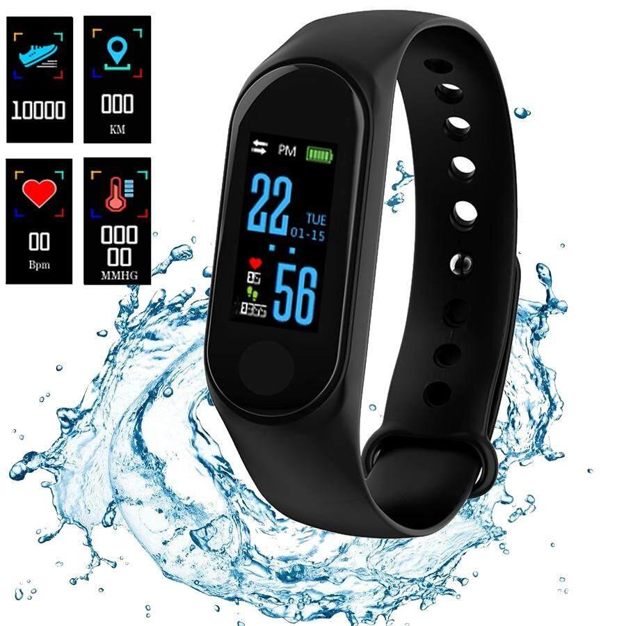 NanXiangZi M3 Smart Band Waterproof Fitness Tracker VS M3 Plus Smart Bracelet Blood-Pressure Heart-Rate Monitor Smartwatch Malaysia
