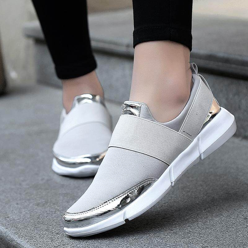 the fall of platform shoes Ladies thick soled sports shoes Breathable mesh shoes slipsole thin shoes   9ZMQ69S0U