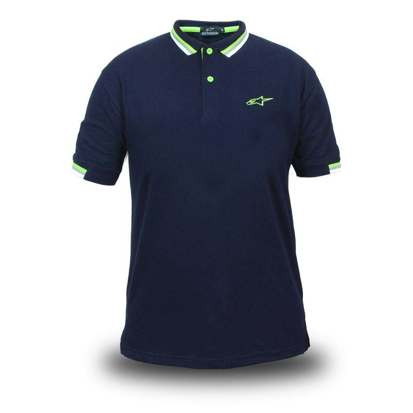 5481377b5 Genuine Alpinestars Motorcycle Motorcross Bike Navy Blue Mens Polo Tee  T-Shirt