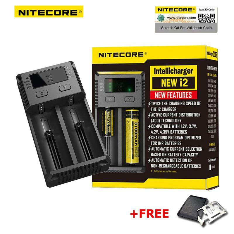 Nitecore I2 I4 New Smart Intelligent Battery Charger Li-Ion Ni-Mh +free Gift By Morevision.