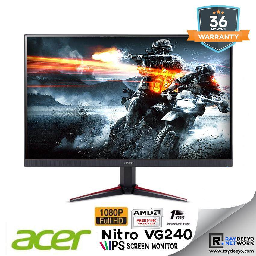 Acer Nitro VG240Y bmiix 23.8 Full HD (1920 x 1080) IPS Monitor with AMD Radeon FREESYNC Technology - 1ms VRB  75Hz Refresh  (2 x HDMI Ports & 1 x VGA) Malaysia