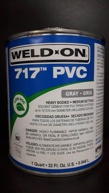 WELD-ON 717 PVC SOLVENT CEMENT - GRAY
