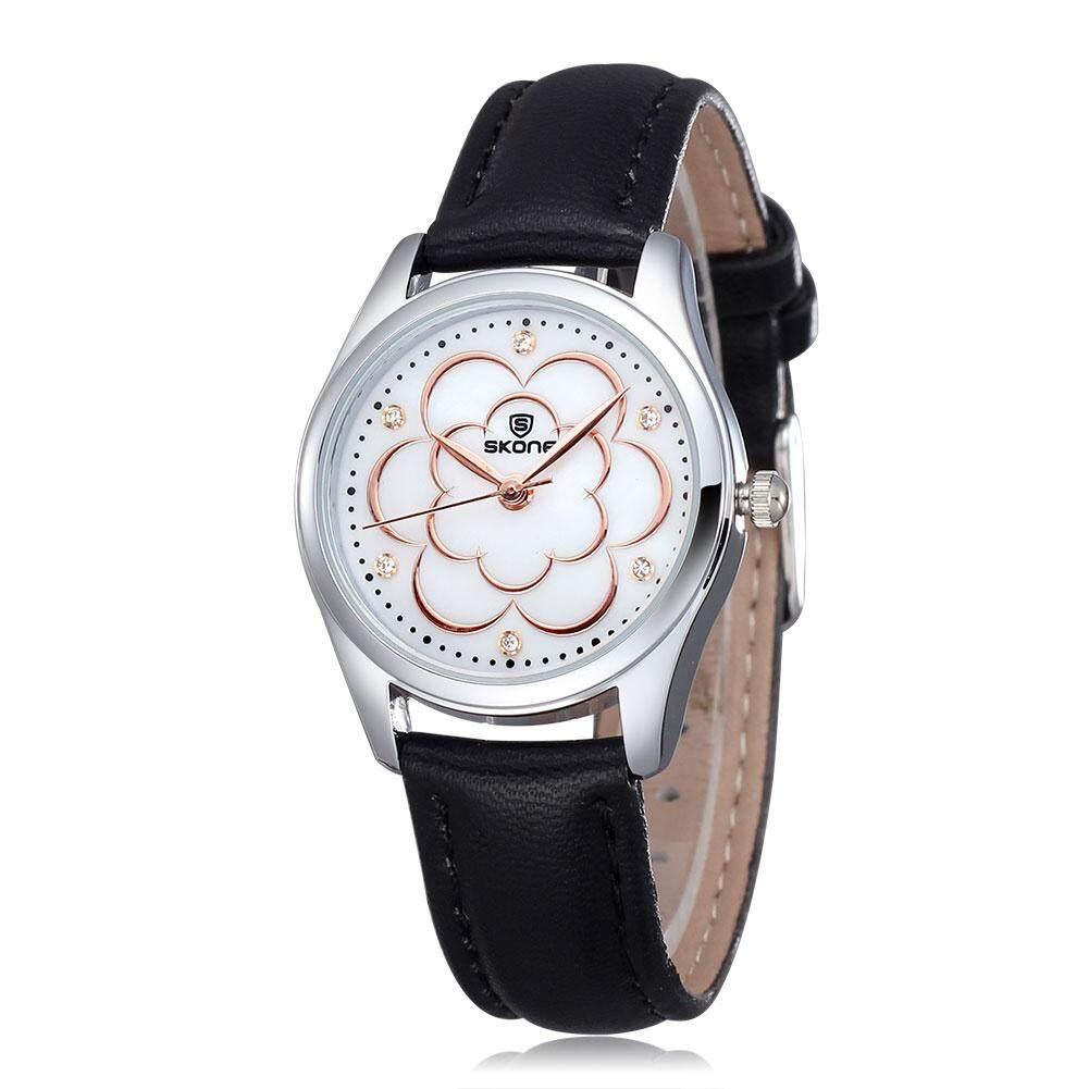 ninror Authentic skone pastoral diamond flower shell dial Ms. watch (white)MYR44. MYR 44