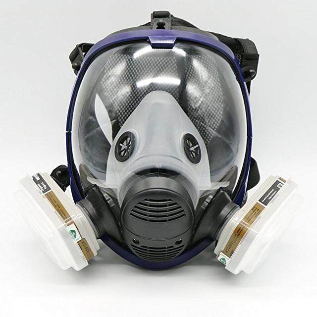 360 Degrees Protective Full Face Mask 7 In 1 Suit Painting Spraying Similar For 6800 Gas Mask Full Facepiece Respirator