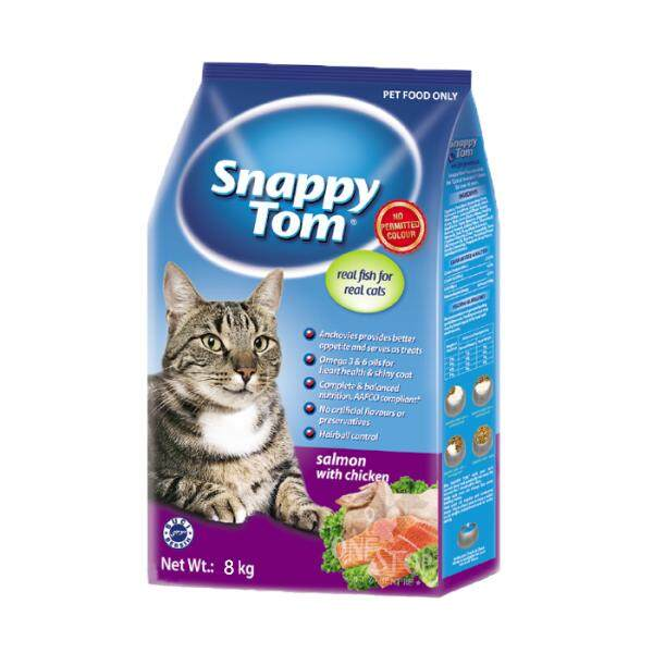 Snappy Tom Salmon With Chicken Cat Food 8kg By One Stop Petz Centre.