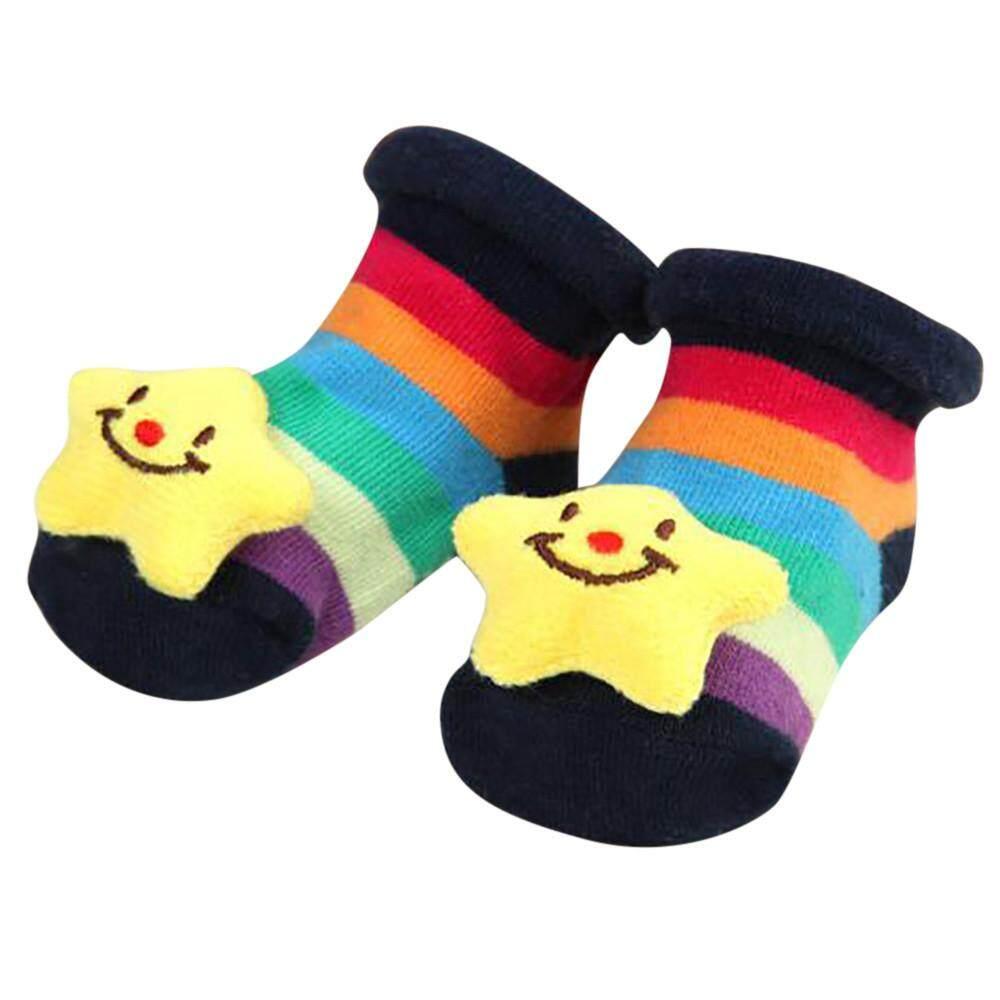 Toddler Non-Slip Boot Socks Kids Baby Cartoon Cotton Warm Shoes Antislip Slipper