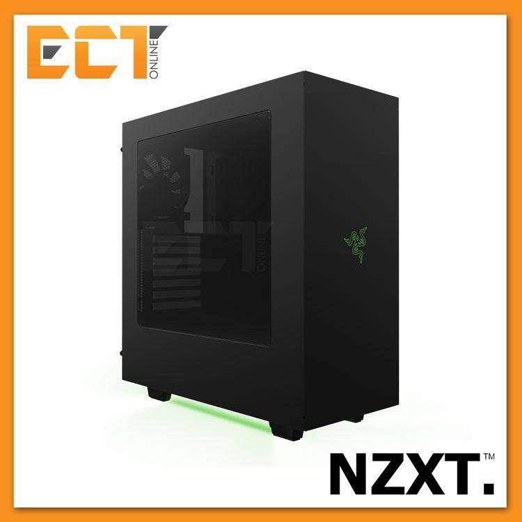 NZXT S340 ATX Mid Tower Gaming Case / Chassis Designed by Razer Malaysia